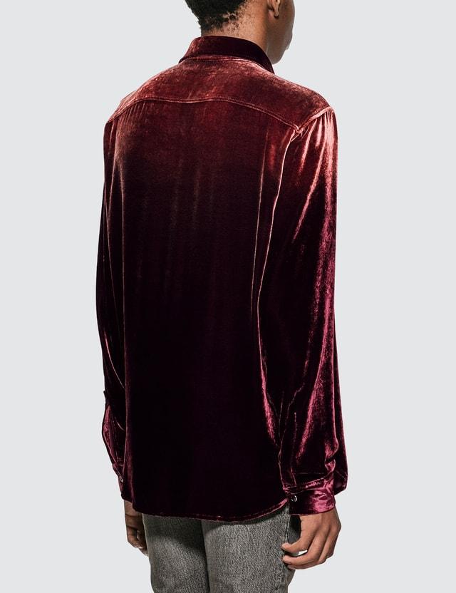 Saint Laurent Oversized Shirt In Bleached Dévoré Velvet
