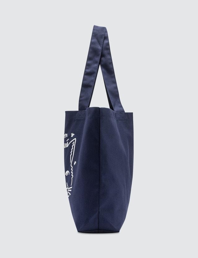 Maison Kitsune Ancora Tu Tote Bag