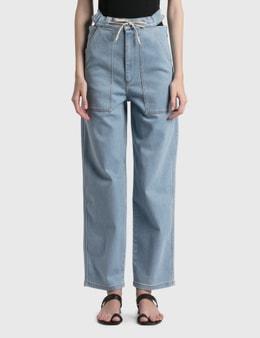Nanushka Chace Barrel-Leg Jeans