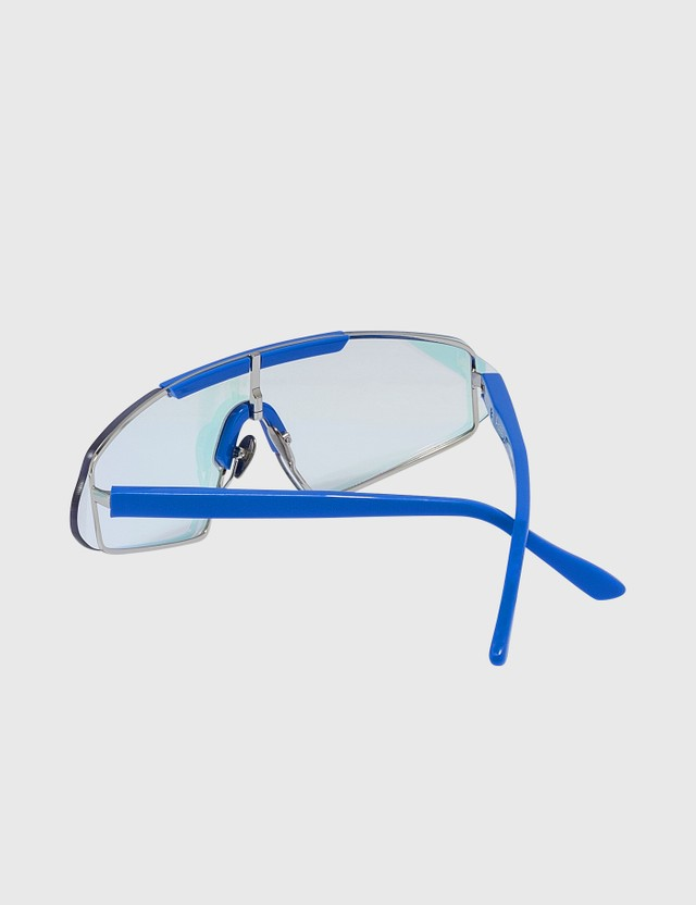 Acne Studios Bornt Sunglasses Blue/light Pink Mirror Women