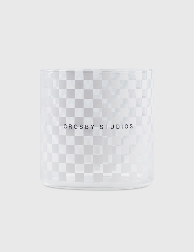 Crosby Studios Medium Checkers Glass White Unisex