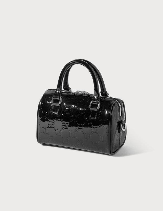 Misbhv Embossed Monogram Mini Leather Bag