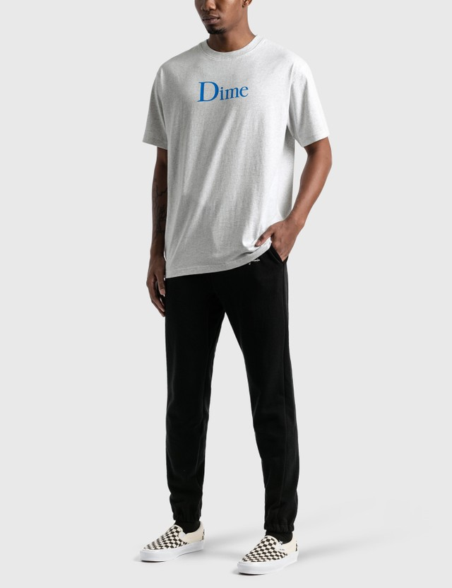 Dime Classic Logo T-Shirt Ash Men