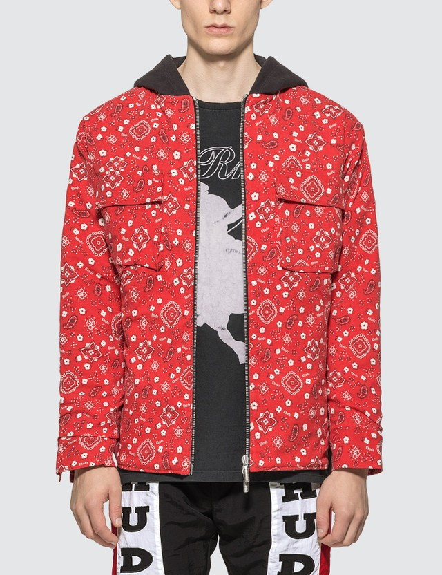 Rhude Quilted Cargo Jacket