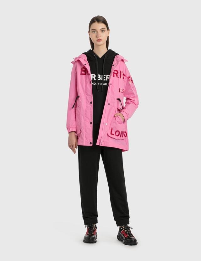 Burberry Horseferry Print Shape-memory Taffeta Parka Bubblegum Pink Women