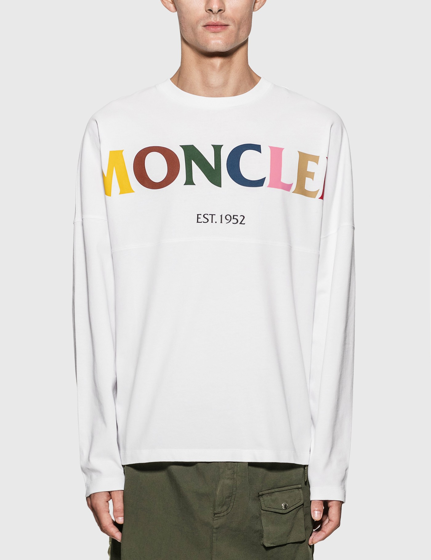 MONCLER GENIUS 1952 X UNDEFEATED COLORFUL LOGO LONG SLEEVE T-SHIRT