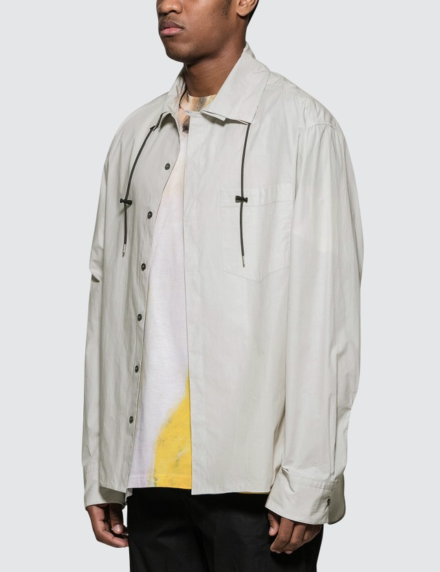 Lanvin Double Collar L/S Shirt Chalk Men