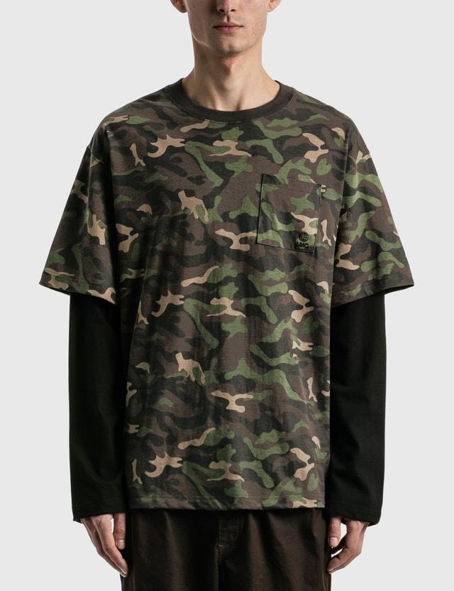 LMC LMC Workroom Layered Long Sleeve T-shirt Camo Men