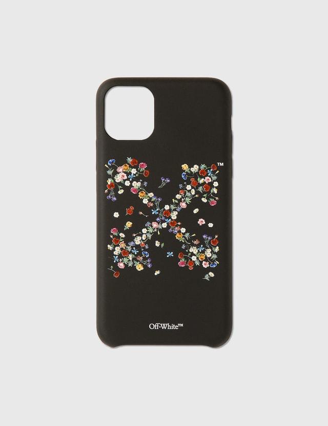 Off-White Flowers 11 Pro Max Case Black Multic Unisex