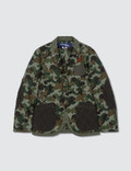 BAPE BApe X Junya Watanabe Man Laminated Cotton Jacket Picture
