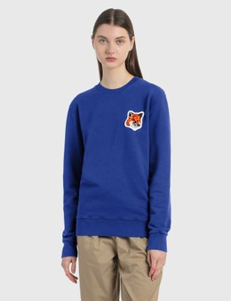 Maison Kitsune Velvet Fox Head Patch Classic Sweatshirt