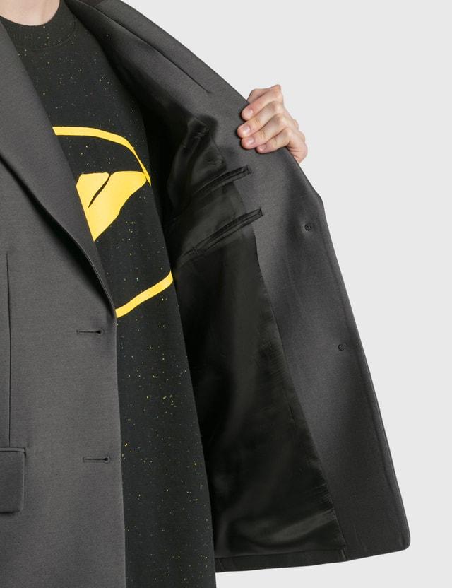 We11done Basic Single Button Jacket Charcoal Women