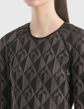 Marine Serre Optical Jacquard Chunky Knit Jumper 0 Black Women