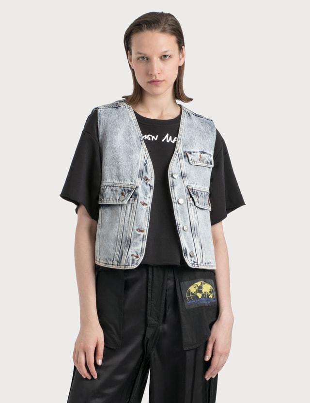 MM6 Maison Margiela Denim Vest With Crossbody Pocket