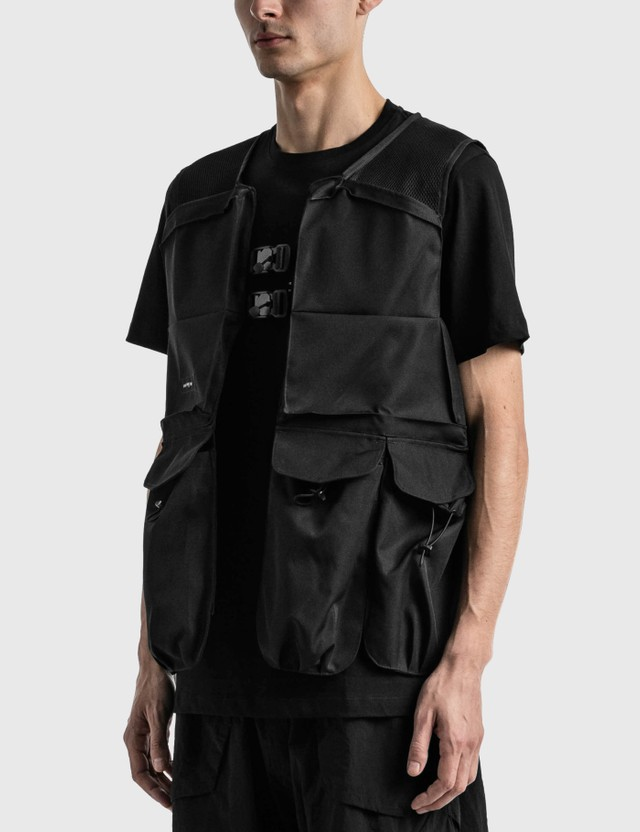 Tobias Birk Nielsen Mix Materials Tech Vest Black/black Rd Men