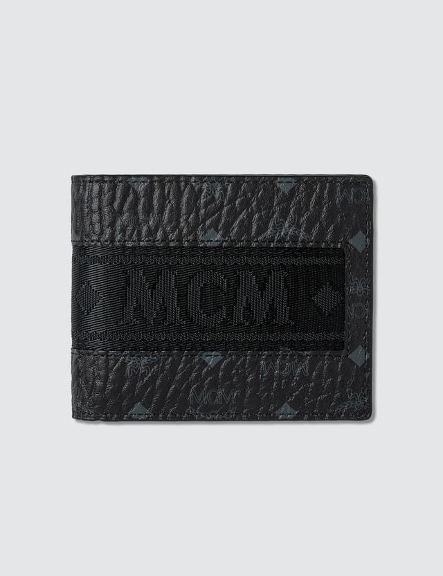 MCM Visetos Original Webbing Fold Wallet