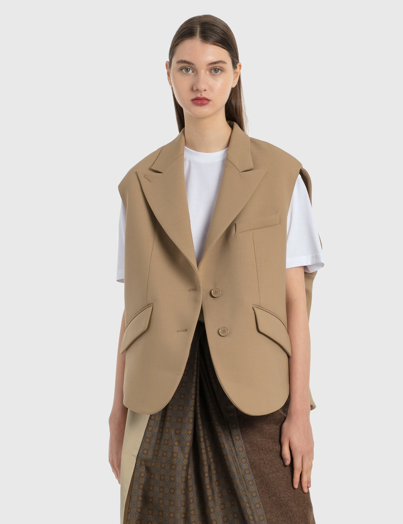 Mm6 Maison Margiela Wools CIRCLE SLEEVELESS BLAZER
