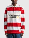 Starter Budweiser x Starter Varsity Stripe Rugby Shirt Picutre