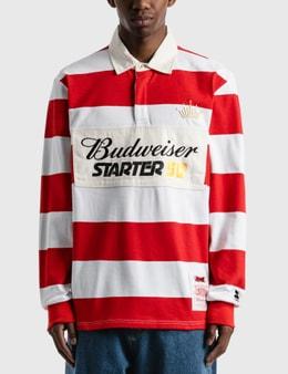 Starter Budweiser x Starter Varsity Stripe Rugby Shirt
