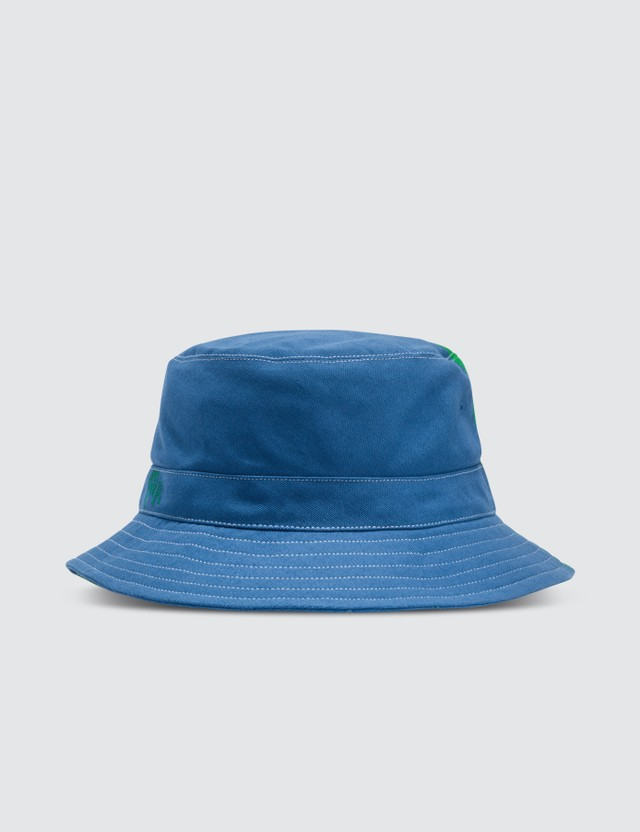 JW Anderson Green & Blue Color-blocked Bucket Hat Emerald/cobalt Unisex