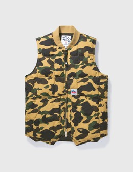 BAPE Bape Camouflage Zip Up Vest