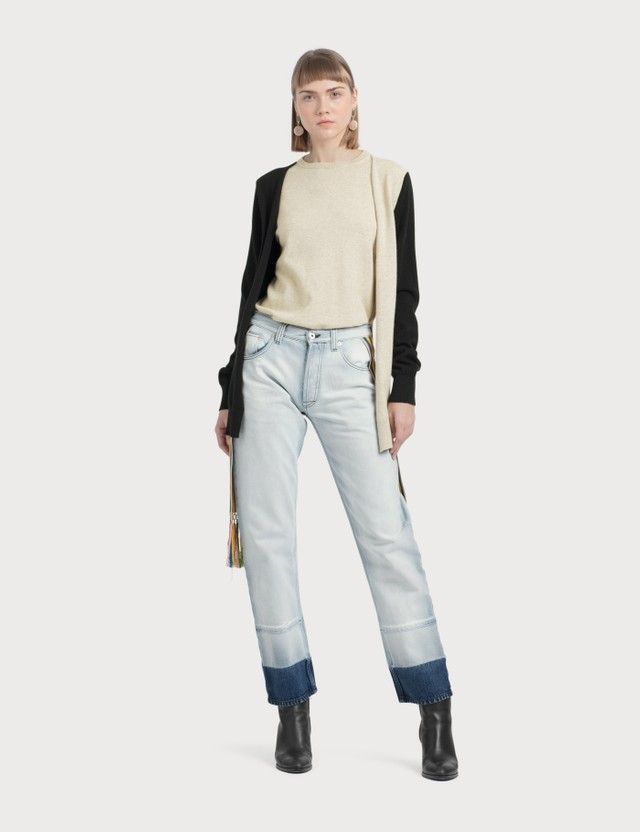 Loewe 5 Pocket Jeans Knit Stripe Bands