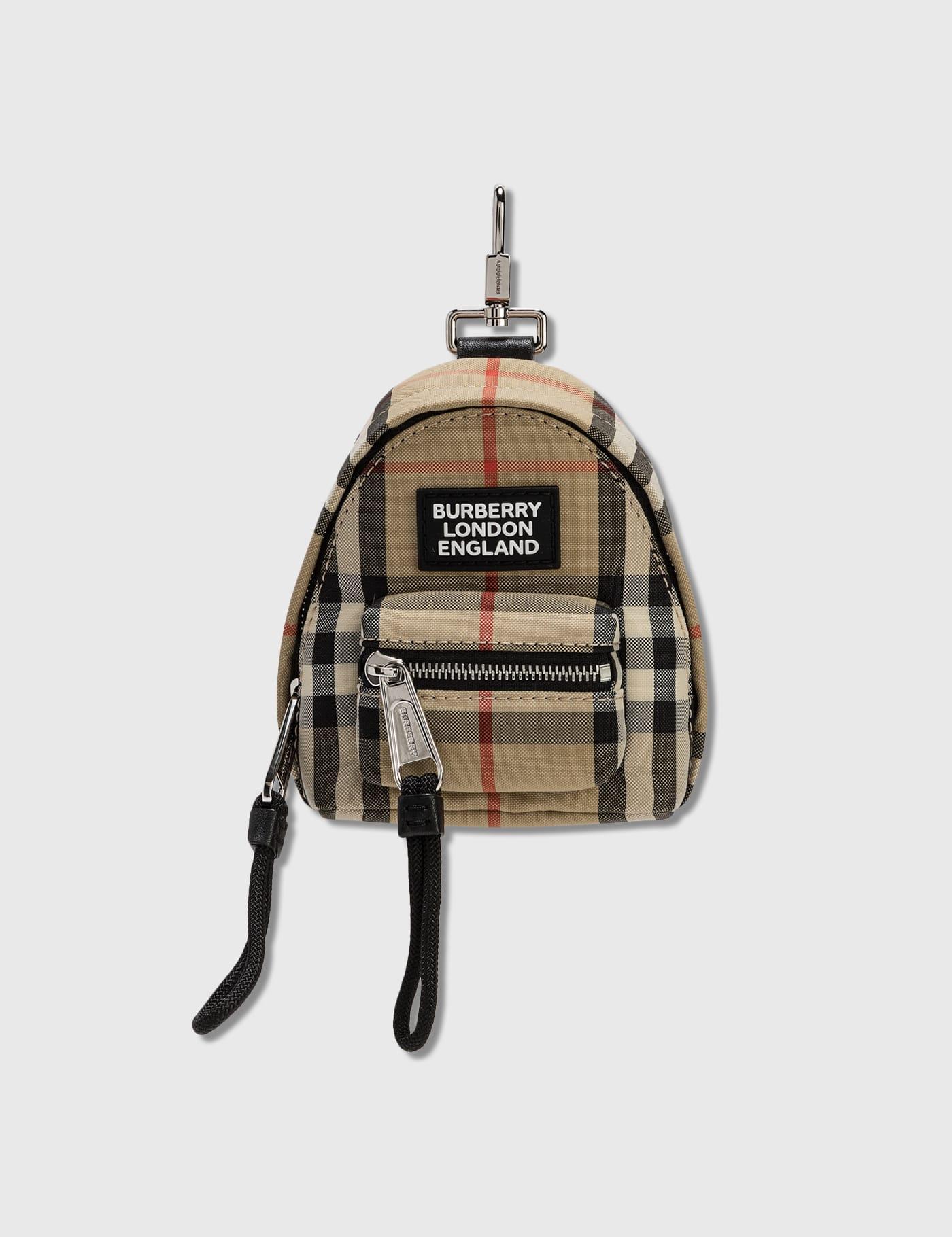 Vintage Check Backpack Charm