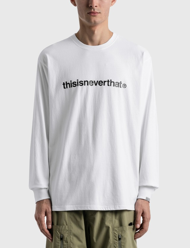 Thisisneverthat T-logo Long Sleeve T-Shirt White Men