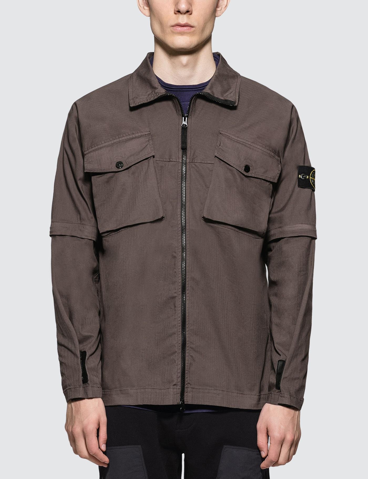 2-Way Front Zip Overshirt