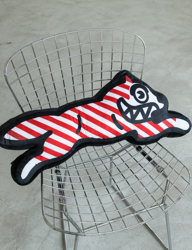 Icecream Striped Bass Pillow Red Unisex