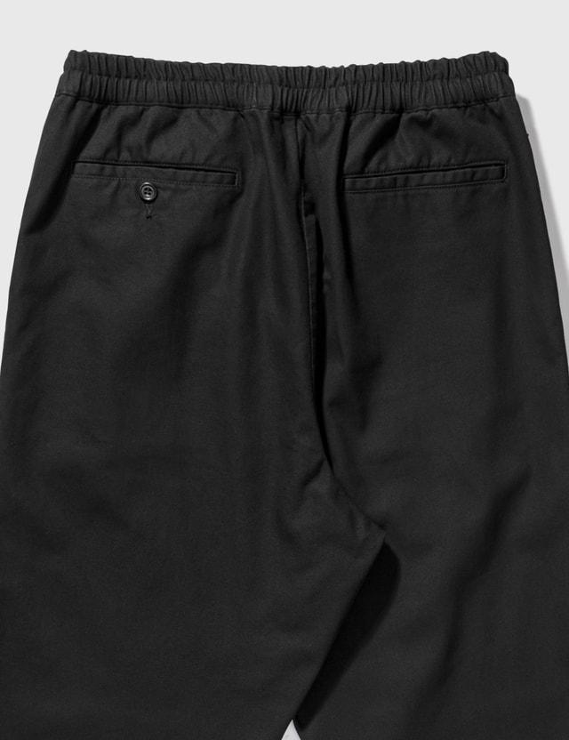 SOPHNET. Wide Cropped Ventilation Pants Black Men