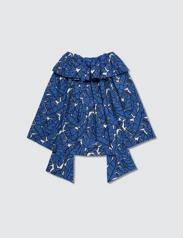 MSGM Leaf Printed Blouse