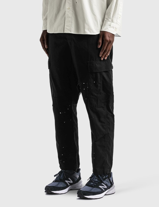 uniform experiment Dripping Rip Stop Cargo Pants Black Men