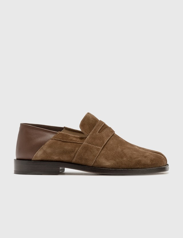 Maison Margiela Tabi Suede Loafer Dark Earth Women