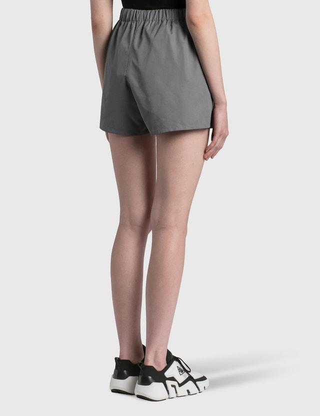 Prada Poplin Shorts Ematite Women