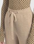 Nanushka Oni Knit Pants Beige Women