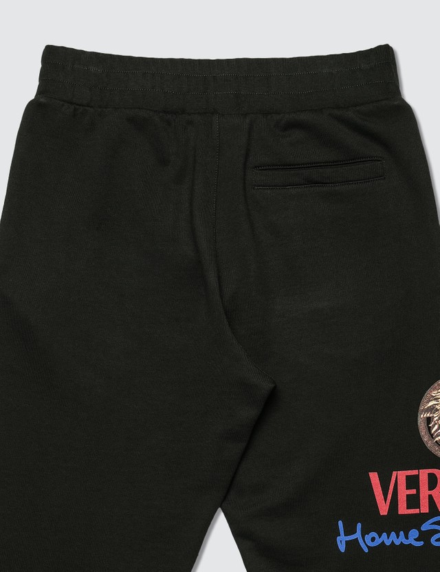 Versace Home Signature Logo Track Pants Lavagna Men
