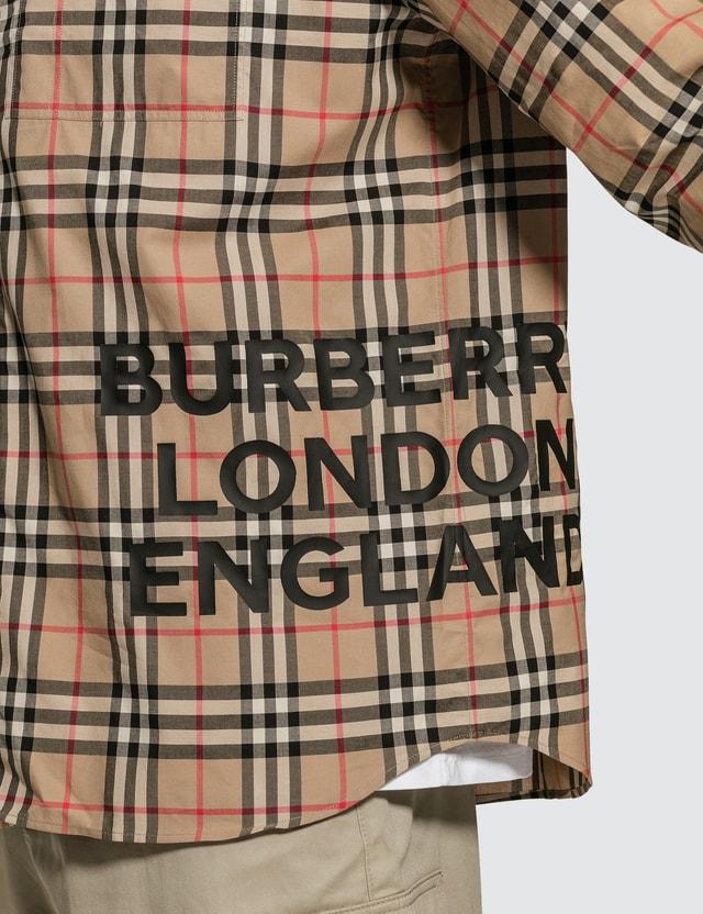 Burberry Logo Printed Vintage Shirt