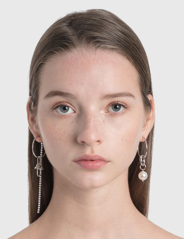 Justine Clenquet Emma Earrings Palladium Women