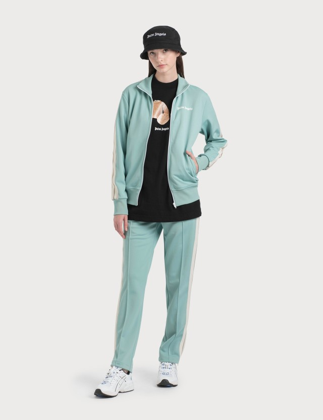 Palm Angels Aquamarine Track Jacket Aquamarine White Women