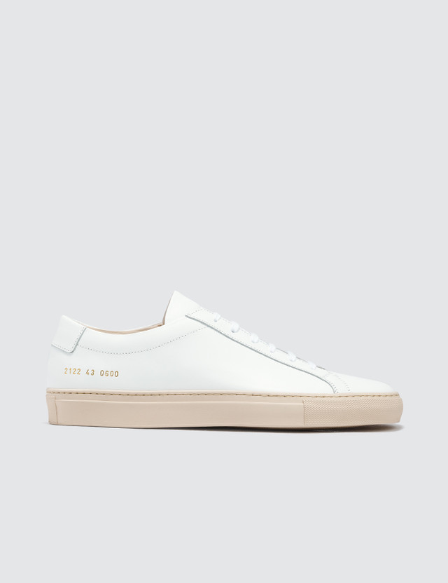 Common Projects Achilles Low With Colored Sole