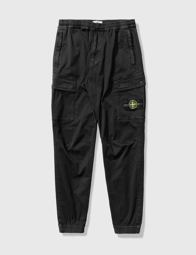 Stone Island Regular Fit Cargo Pants Black Men