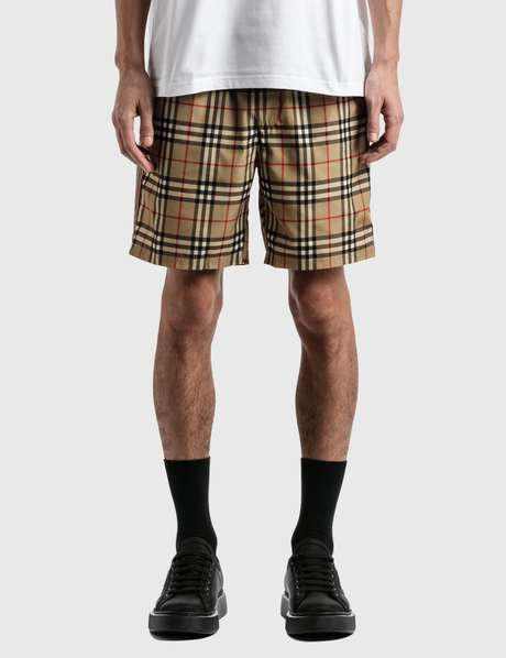 버버리 Burberry Vintage Check Drawcord Swim Shorts