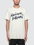 Maison Kitsune Handwriting S/S T-Shirt Picture