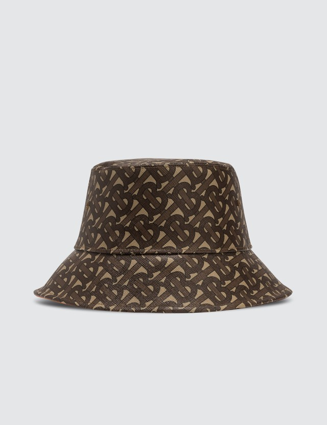 Burberry Monogram Print Bucket Hat Bridle Brown Ip Pttn Men