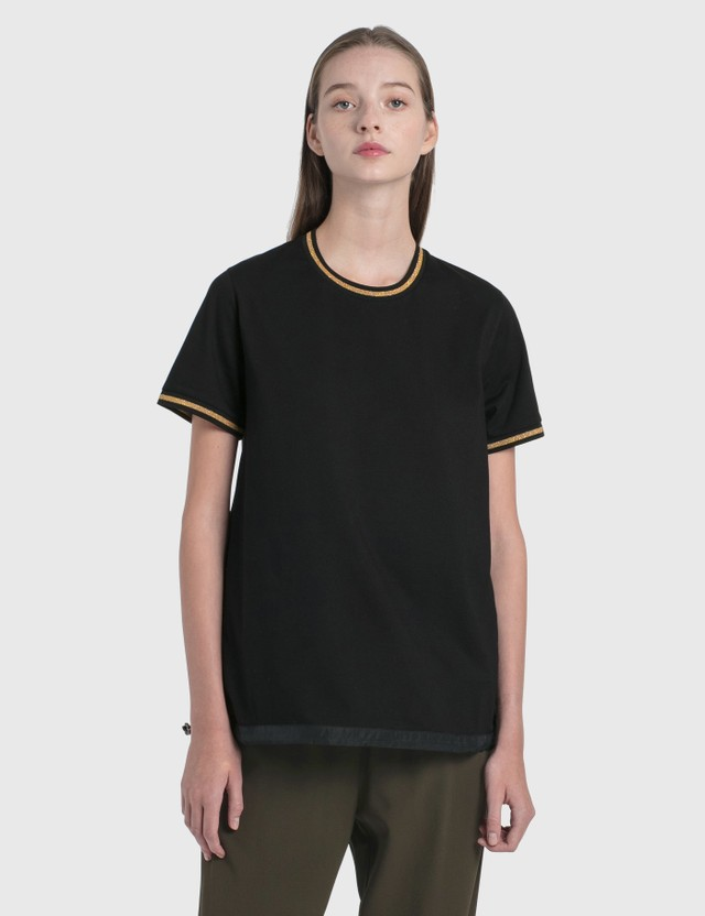 Moncler Gold Trim T-Shirt Black Women