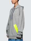 Maison Margiela Fleece Hoodie With Neon Tapes