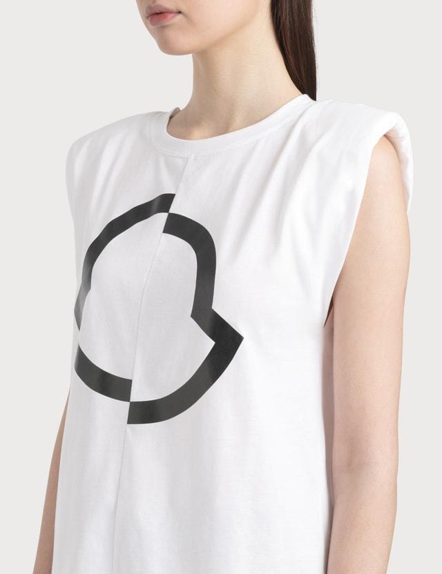 Moncler Logo Print Tank Top White Women