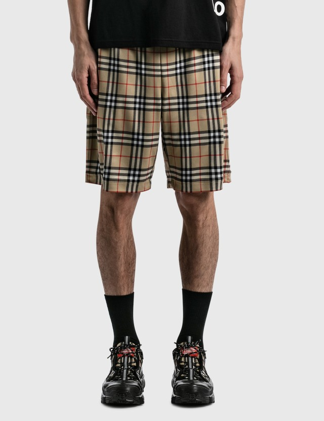 Burberry Vintage Check Technical Twill Shorts Archive Beige Ip Chk Men