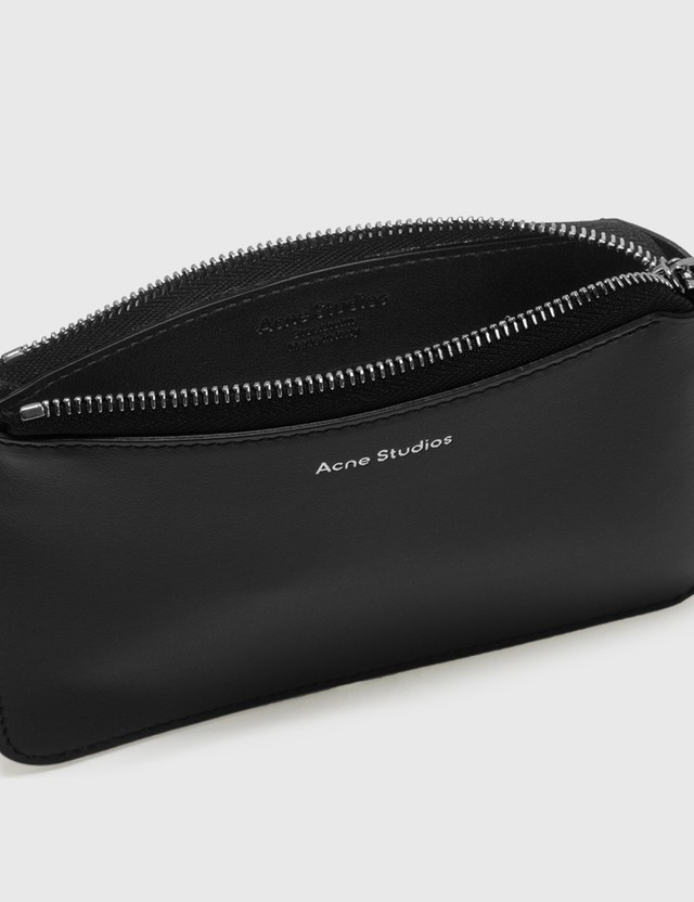 Acne Studios Malachite Zip Wallet Black Men
